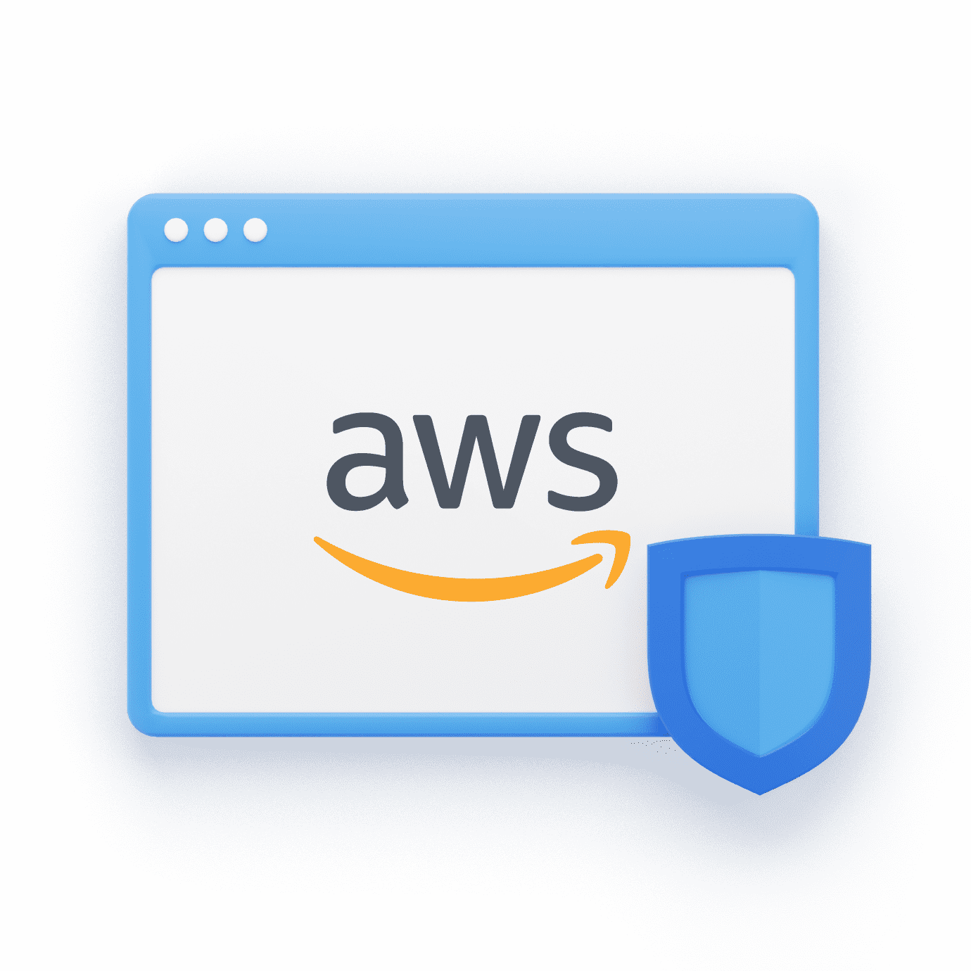 AWS Logo with WWPass Shield