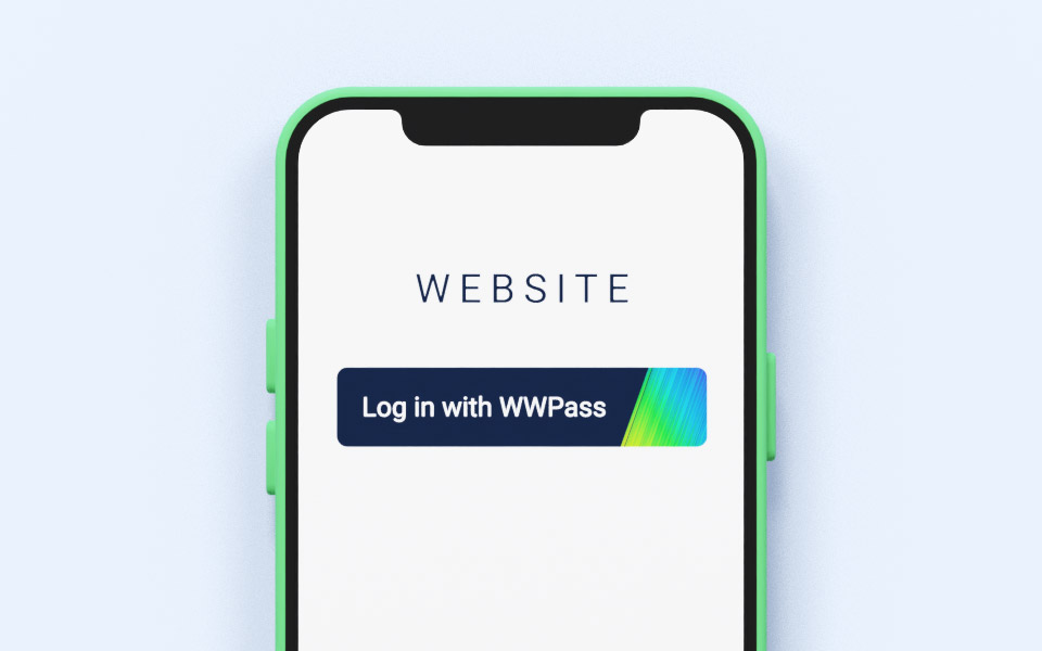 Smartphone with WWPass button